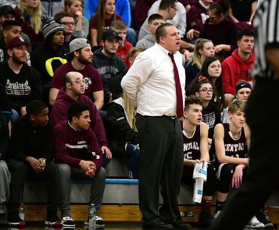 1/18/2019 Mike Orazzi | Staff Bristol Centrals Tim Barrette during Friday nights boys basketball game with Bristol Eastern at Eastern.