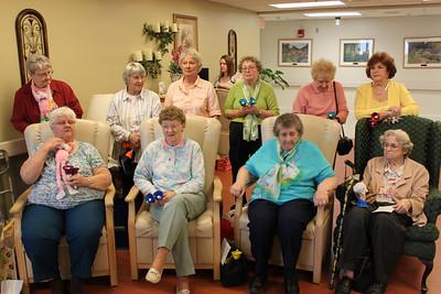 Tamaqua Salvation Army Older and Bolder Bell Choir Visits Nursing Homes (4-21-2011)