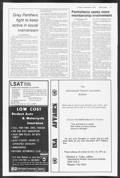 Daily Trojan, Vol. 72, No. 35, November 08, 1977