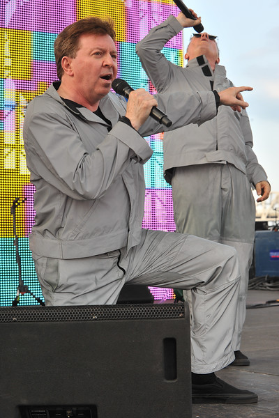 Devo entertained the crowd with some of their classics.