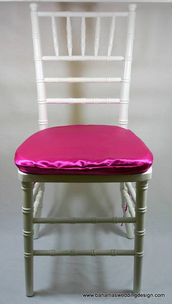 Satin Chair Pad Cover - Fuchsia