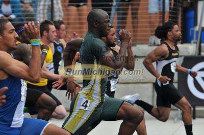 Men's 100 Meter Final - 2012 GLIAC Outdoor T&F Championships