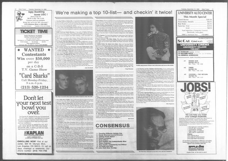 Daily Trojan, Vol. 107, No. 66, December 13, 1988