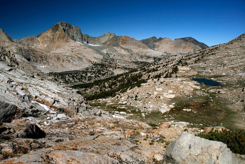 Looking at McGee Canyon from McGee Pass.