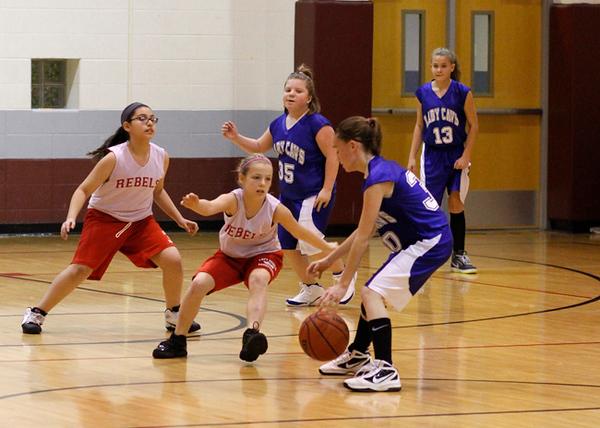SNMS Girls Basketball 6 vs TC 2012