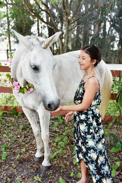 Wonderful Unicorn Theme Birthday Photo Session - 9 years old