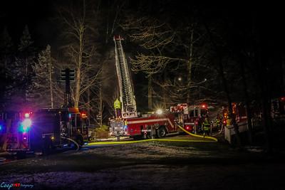 2-7-16 Structure Fire Mohegan, Maple Ct.