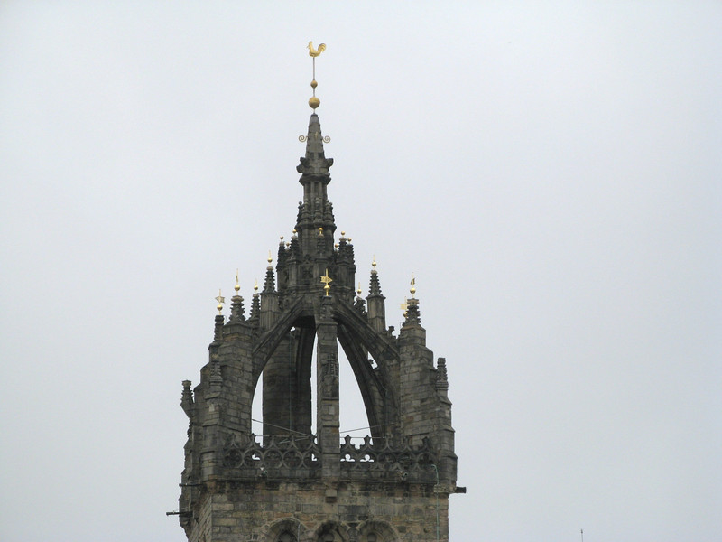 The top of one of the cathedrals.