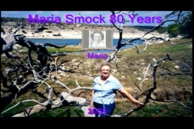 Maria Smock's 80th Birthday Presentation