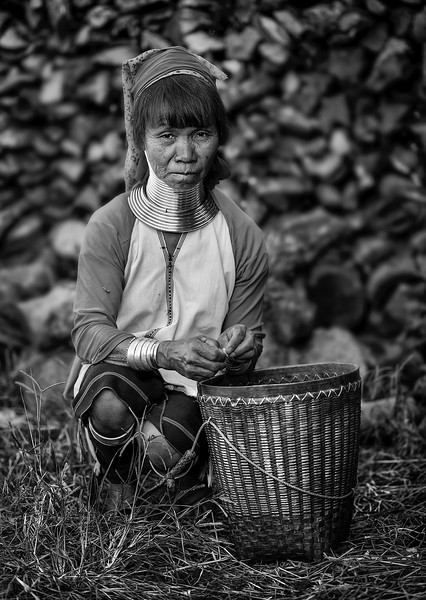 A woman from the Kayan tribe.   Kayah State, Myanmar, 2017