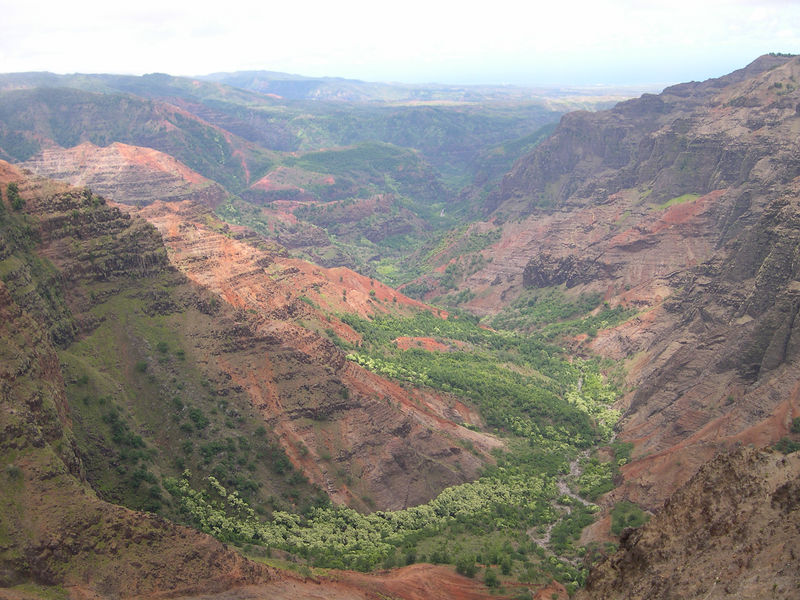 Waimea Canyon looking south towards the Pacific