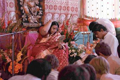 Shri Ganesha Puja, 2 September 1984, Riffelberg Switzerland (Herbert Reininger photo)