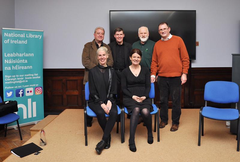 (standing l-r) Ciaran Tourish, Declan Brennan, MJ Sullivan, Conor O'Malley – (seated l-r) Mia Gallagher, Una McNulty.