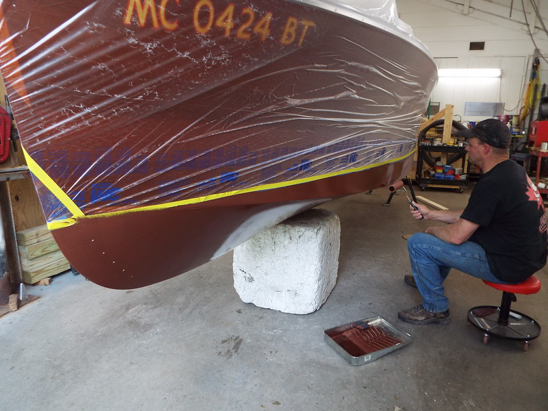 Front view of he first coat on the port side.