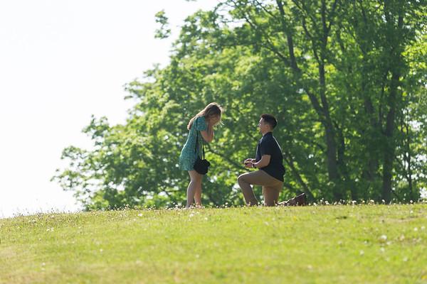 Surprise Engagement Pond Hill Farm Harbor Springs
