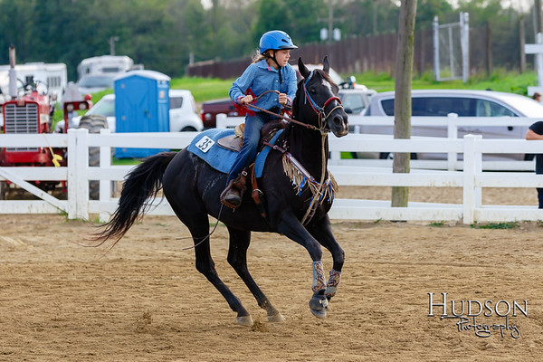 11. Pole Bending Horse  Jr. Rider