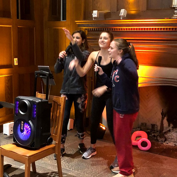 Karaoke in the Dining Hall