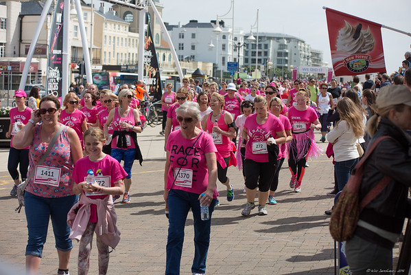 Race For Life - Worthing Sea Front - 19th June 2016