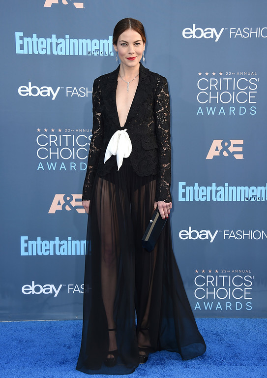 . Michelle Monaghan arrives at the 22nd annual Critics\' Choice Awards at the Barker Hangar on Sunday, Dec. 11, 2016, in Santa Monica, Calif. (Photo by Jordan Strauss/Invision/AP)