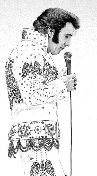 Jessee Garron as Elvis Art