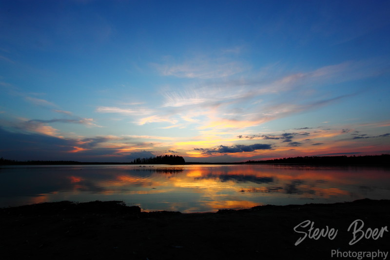 After Sunset at Elk Island