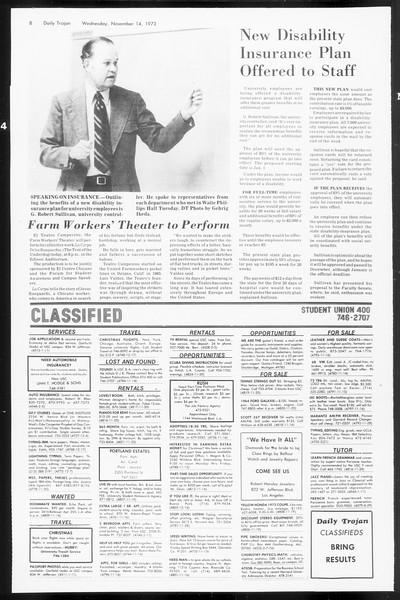 Daily Trojan, Vol. 66, No. 40, November 14, 1973
