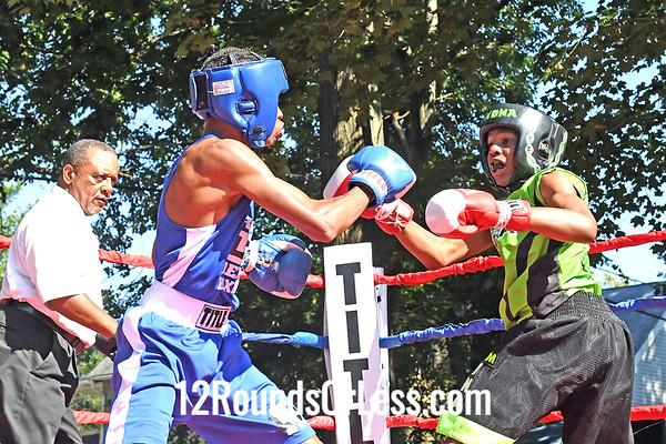 Bout 8 = Main Event, King of the Ring, Tori Coleman, Blue Gloves, Cincinnati -vs- Khalil Mason, Red Gloves, Cleveland, 118 Lbs