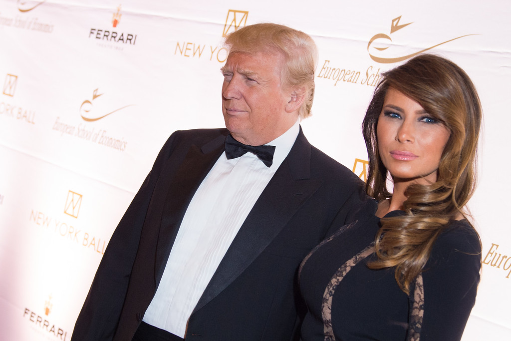 . Donald Trump and Melania Trump attend the 20th Anniversary European School of Economics New York Ball benefit at Trump Tower on Wednesday, Nov. 19, 2014, New York. (Photo by Scott Roth/Invision/AP)