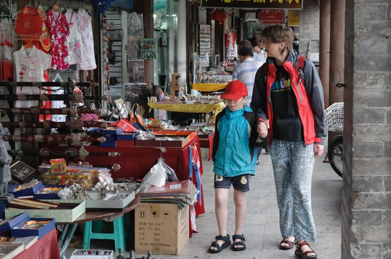 Zum Schluss waren wir noch Shopping im muslimischen Viertel von Xian.