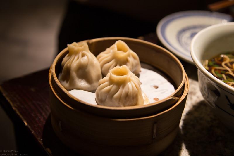 Roasted duck dumplings 烤鴨小籠包