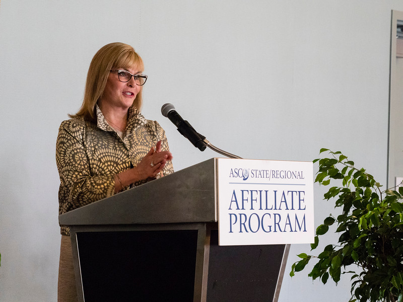 ASCO President Julie Voss during State Affiliates reception