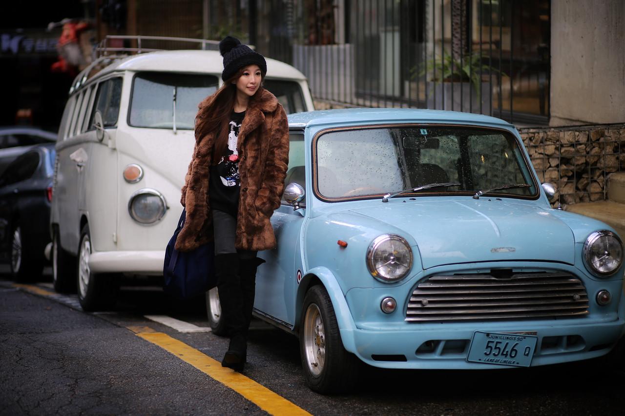 blue mini cooper
