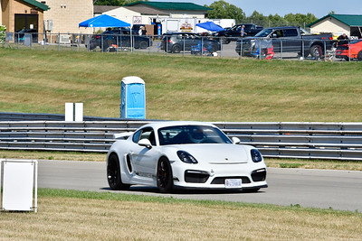 2020 SCCA July 29 Pitt Race Interm White Porsche Cayman GT4