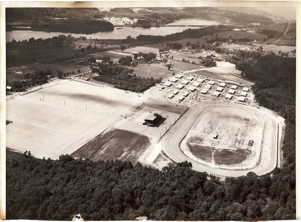 . Hinsdale Raceway, aerial view 1958 (courtesy the Hinsdale Historic Society)
