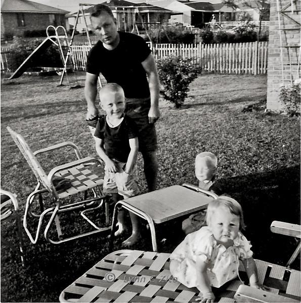 DAD,DANA,MARK & LYNN JULY 4, 1958