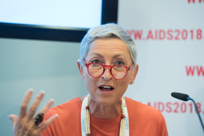 22nd International AIDS Conference (AIDS 2018) Amsterdam, Netherlands   Copyright: Marcus Rose/IAS  Photo shows: Press Conference: Sub-Saharan Africa: New Insights, New Impact. Linda-Gail Bekker (Chair),