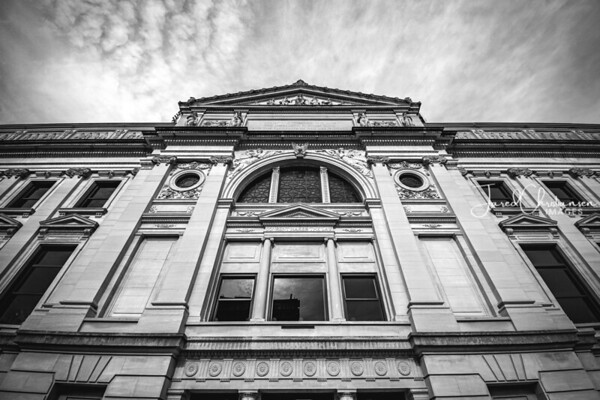 Allen County Courthouse - Fort Wayne, Indiana in Black and White