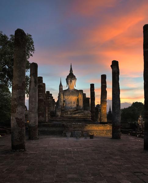 Buddha at Dusk. Sukhotai. Thailand.