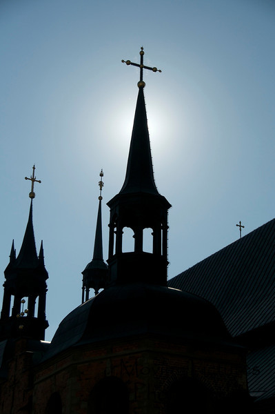 Stockholm - church steeples silhouetted