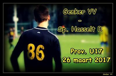 Genker VV - Sp. Hasselt B Prov. U17  26/03/2017