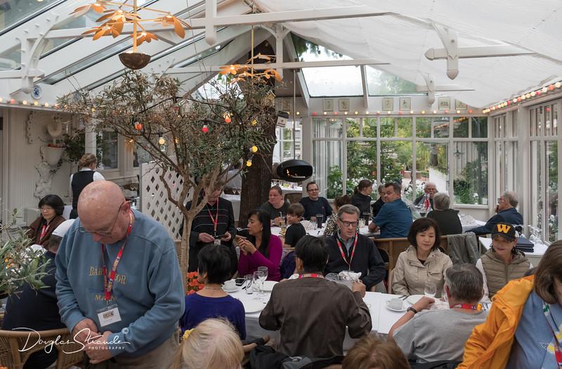 Group dinner in Tivoli Gardens at Pafuglen