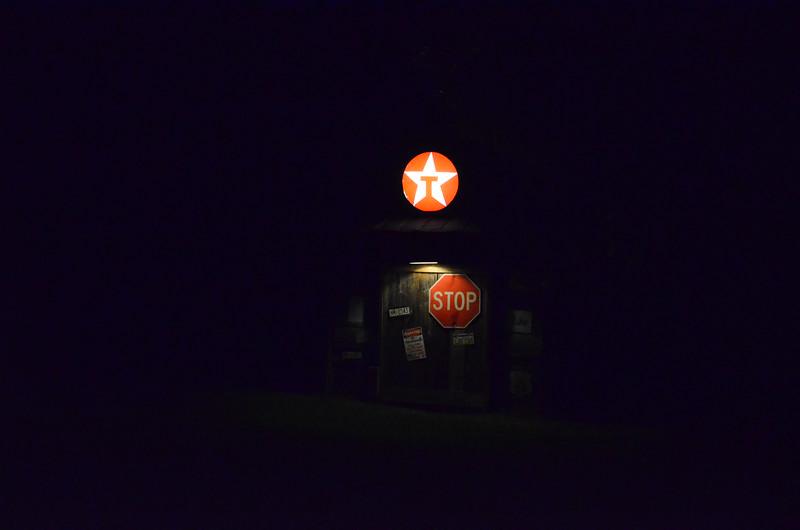 Texaco light is on.