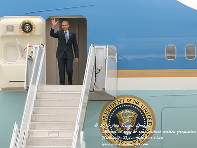 Air Force One Lands in Richmond, Virginia