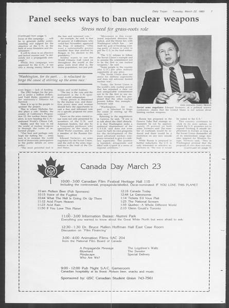 Daily Trojan, Vol. 93, No. 48, March 22, 1983
