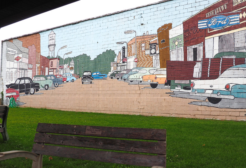 Outdoor mural in West Concord, MN