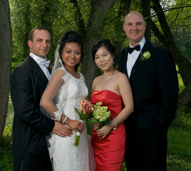 The wedding party - Joe, Irene, Ju Young, Steve
