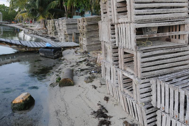 Lobster traps in Caye Caulker, Belize