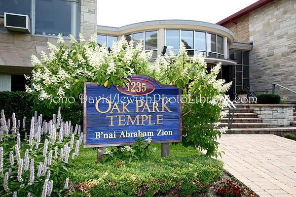 USA, Illinois, Chicago. Oak Park Temple B'nai Abraham Zion. (2009)