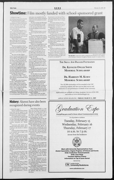 Daily Trojan, Vol. 154, No. 23, February 14, 2005