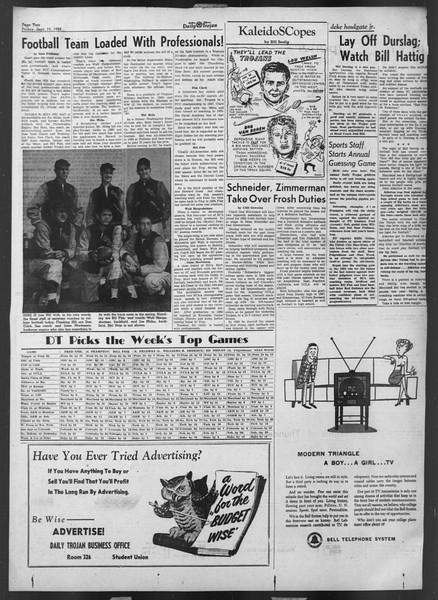 Daily Trojan, Vol. 44, No. 5, September 19, 1952